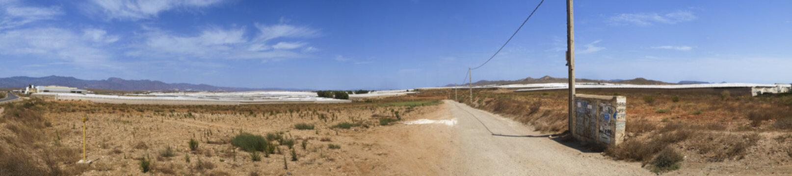 Spanien, Andalusien, Almeria, Mar del Plastico, Anbaufächen in