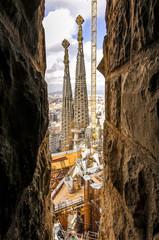 Türaufkleber Barcelona Barcelona, Kathedrale Sagrada Familia, Architekt Antonio Gaudi,