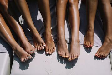 feet on the beach