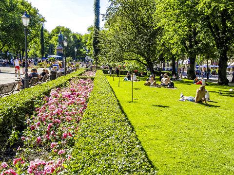 Helsinki, Esplanade, Finnland