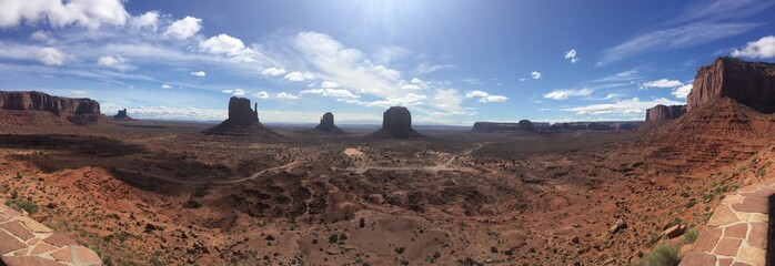 Aluminium Prints Cappuccino Panorama of the monument valley