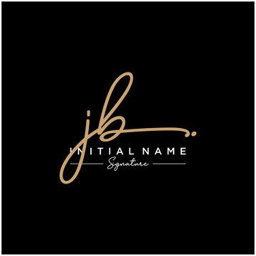 Letter JB Signature Logo Template Vector
