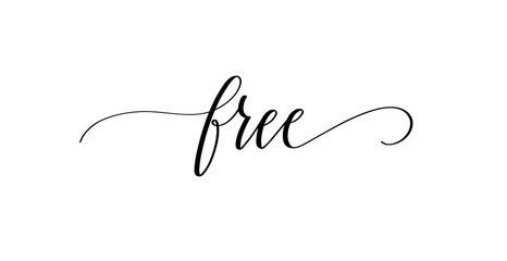 Free modern pen calligraphy inspiration word quote