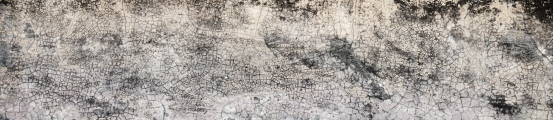 Panorama,Old Wall with Moldy Peeling White Painting from Humidity. Cracked White Wall as Rusty Concrete Weathered Wall Grunge Background or Abstract Backdrop Wallpaper Vintage Texture Design