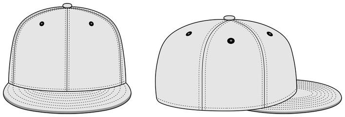 Baseball cap template vector illustration / white