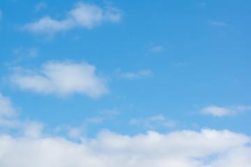 Foto op Plexiglas Hemel blue sky with light white clouds