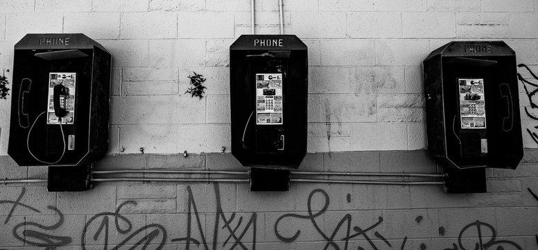 Black and White Phone