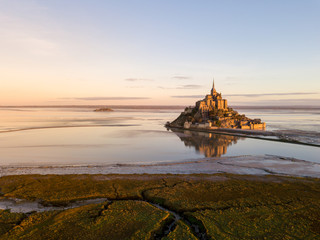 Le Mont Saint-Michel in Frankreich -Normandie