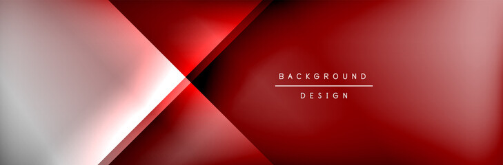 Abstract background - squares and lines composition created with lights and shadows. Technology or business digital template Fototapete