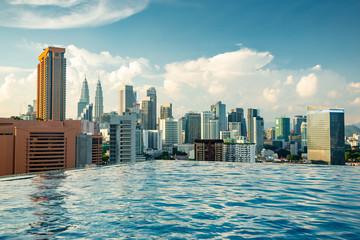 Photo Stands Kuala Lumpur Kuala Lumpur skyline pool view