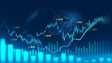Obraz Stock market or forex trading graph concept - fototapety do salonu