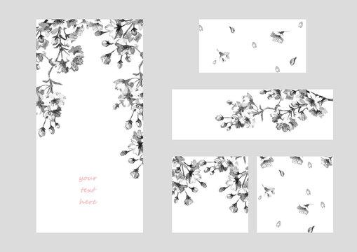桜の花 フレーム&バナー