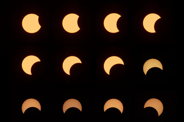 2019-12-26 Lampang, Thailand : partial eclipse, lunar and solar eclipses are visible in Lampang, Thailand