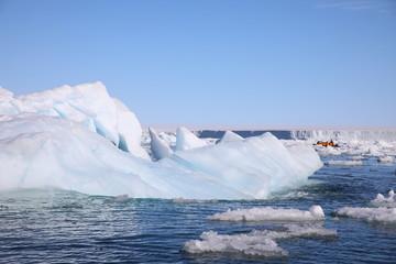 Printed kitchen splashbacks Glaciers Arctic iceberg around Spitsbergen, Svalbard
