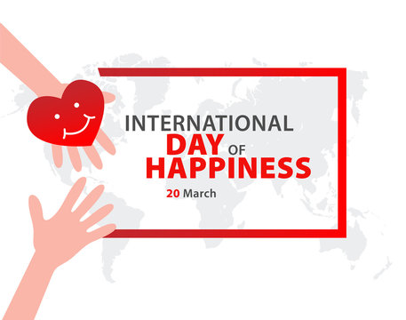 International Day of Happiness Vector Template Design.
