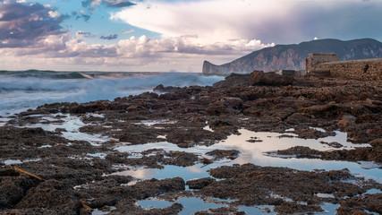 Spiaggia di Nebida con vista Pan di Zucchero