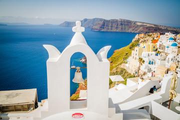 Foto auf Acrylglas Santorini View of Oia the most beautiful village of Santorini island
