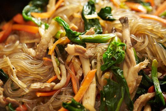 Korean stir fried glass noodle