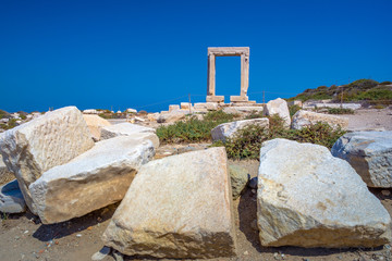 Wall Mural - Portara - ruins of ancient temple of Delian Apollo on Naxos island, Cyclades, Greece