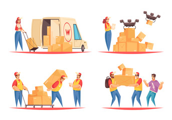 Delivery Flat Compositions Set