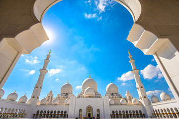 Foto op Textielframe Abu Dhabi Abu Dhabi Grand Mosque, United Arab Emirates