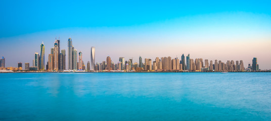 Dubai Marina at blue hour, Dubai, UAEuae,