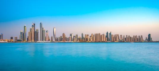 Recess Fitting Dubai Dubai Marina at blue hour, Dubai, UAEuae,
