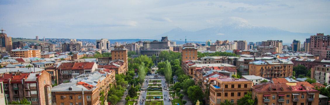 Yerevan is the capital of Armenia. Armenia, Yerevan, August 2018
