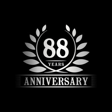 88 years logo design template. Anniversary vector and illustration template.