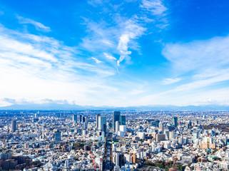 東京 青空と都市風景(渋谷方面) Fototapete