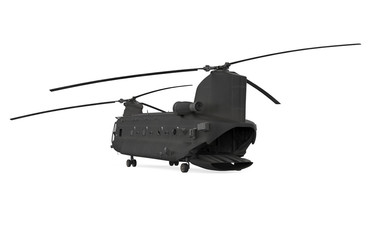 Poster Helicopter Military Helicopter Isolated