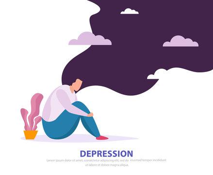 Depression Flat Background