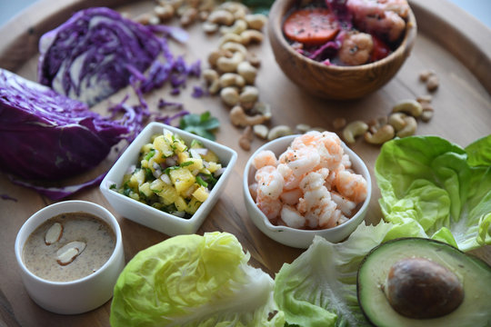 asian shrimp lettuce wraps