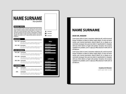 Simple Curriculum Vitae vector template