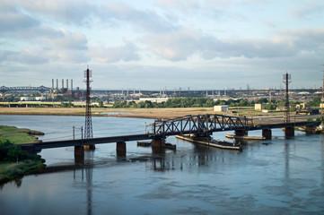 Train Bridge Hackensack River