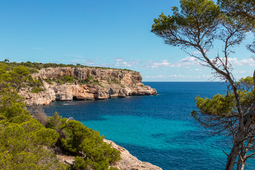 Tuinposter Kust The beautiful coast shore of the island Mallorca in spain