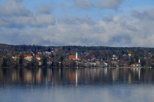 Blick über den Starnberger See nach Tutzing
