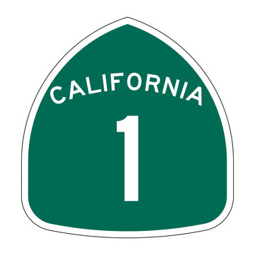 California state route 1 sign