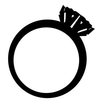Silhouette of a engagement ring