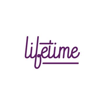 Lifetime handwriting, logo, monoline, calligraphic, Vector