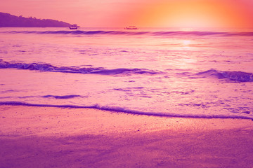 Foto auf AluDibond Rosa Lovey Purple sunset seascape