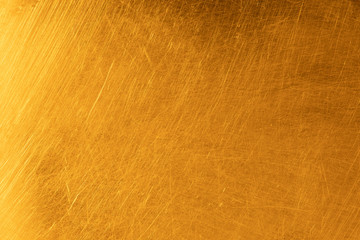 Wall Mural - Real gold scratched metal texture