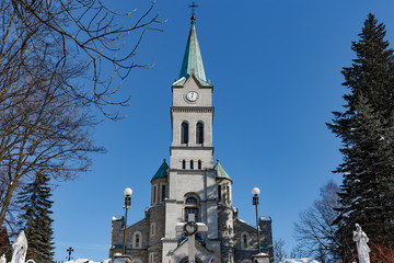 Church of Holy Family in the historic center of Zakopane - Poland