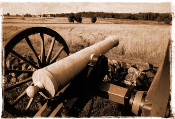 Fototapete - Simulated vintage photograph of Gettysburg Battlefield
