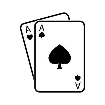 Spades ace icon vector design template