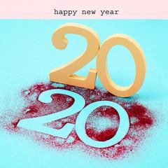 text happy new year 2020