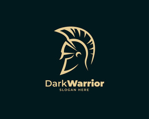 warrior sparta logo vector template. strong knight symbol