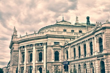 Wall Mural - Vienna - Burgtheater. Vintage color tone.