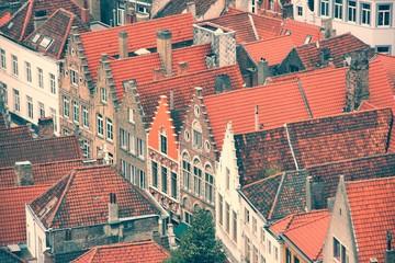 Photo sur Plexiglas Bruges Brugge, Belgium. Retro filtered color tone.