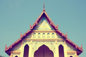 Wall Mural - Thailand temple. Retro filtered colors tone.